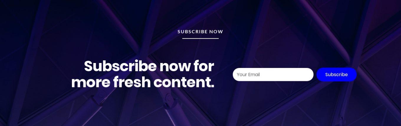 Newsletter Subscription 1