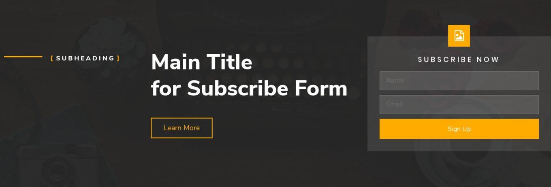 Newsletter Subscription 22