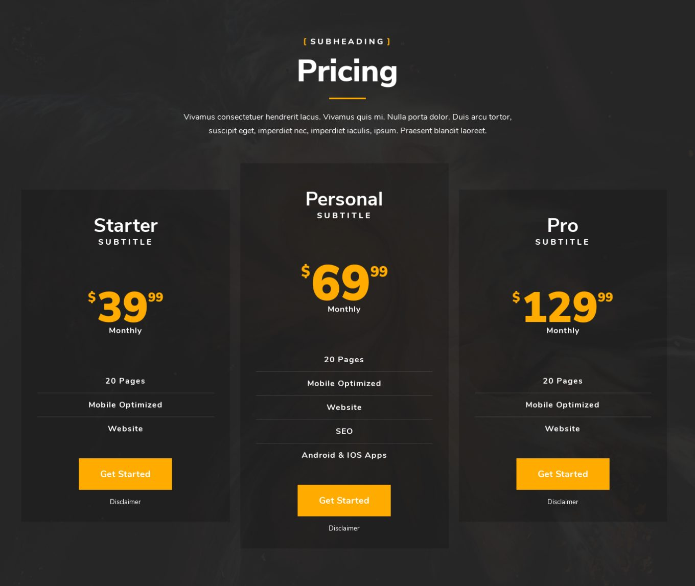 Pricing Table 11
