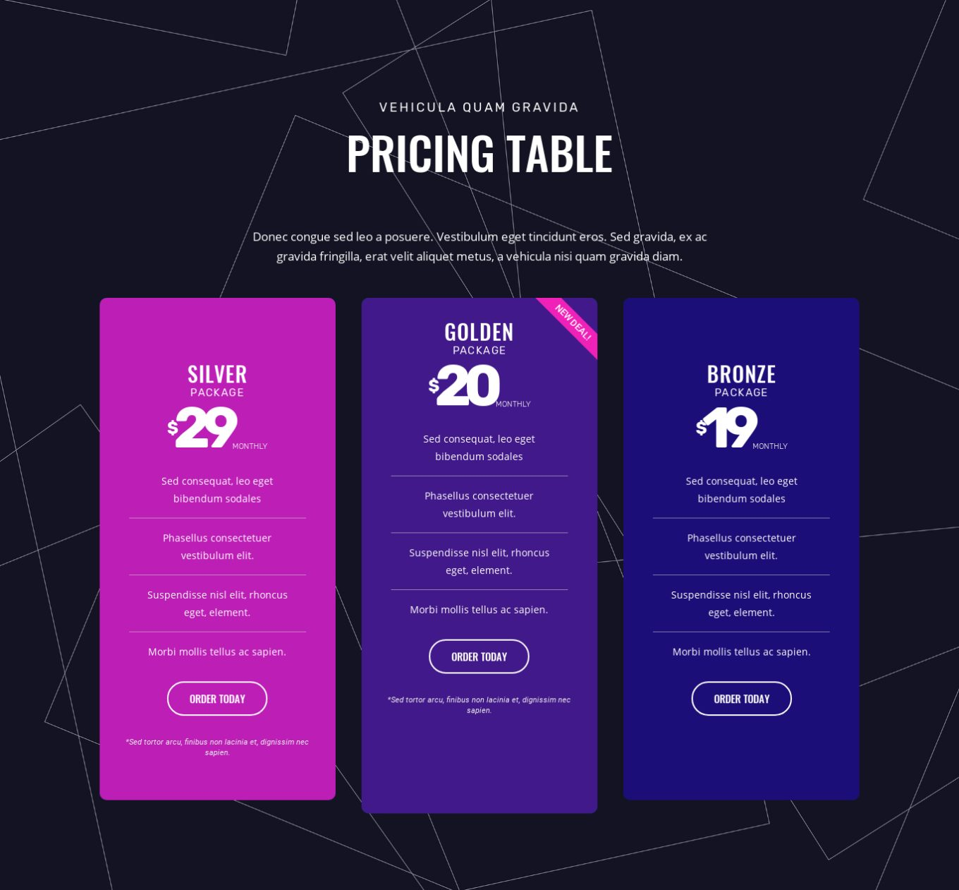 Pricing Table 13