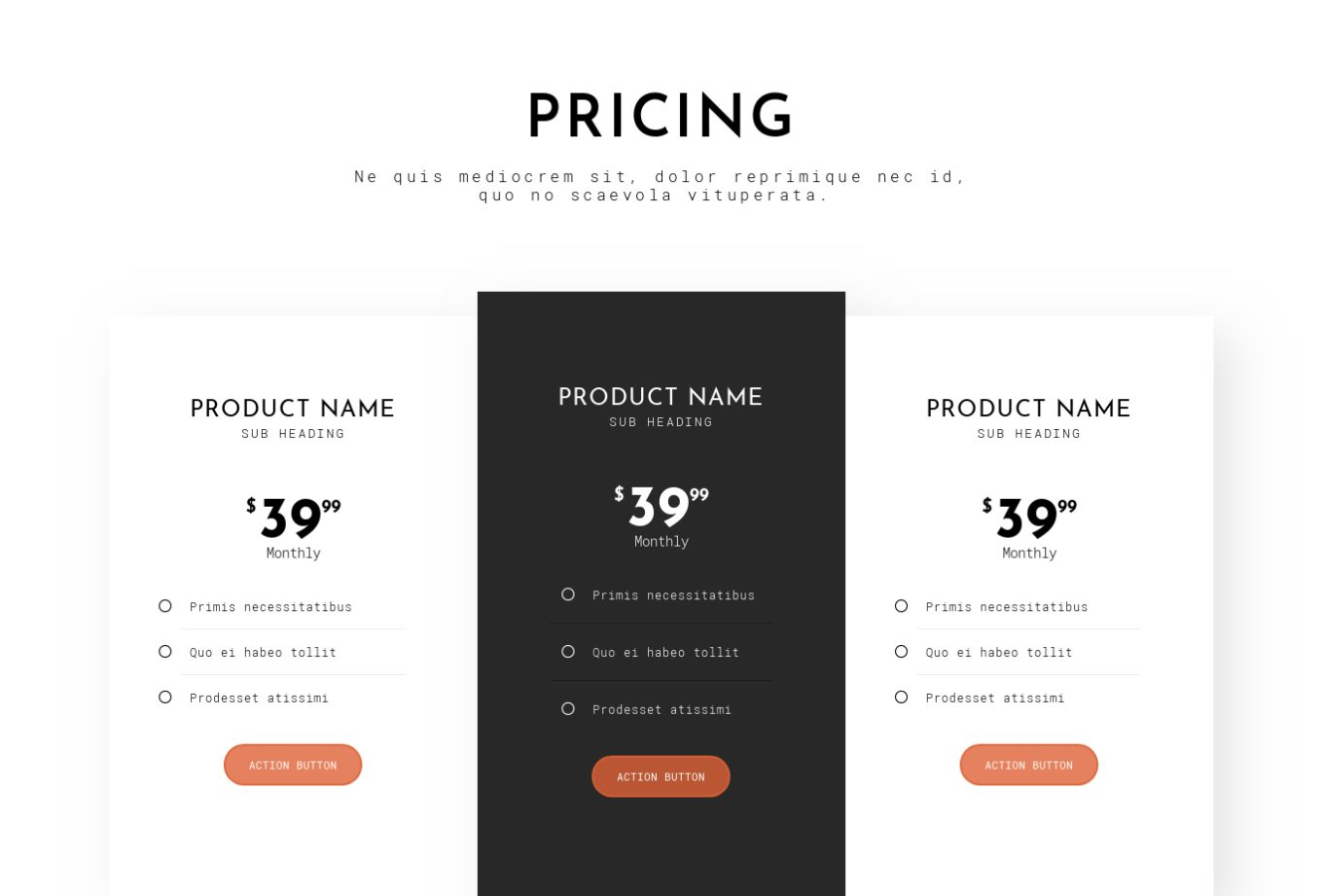 Pricing Table 7