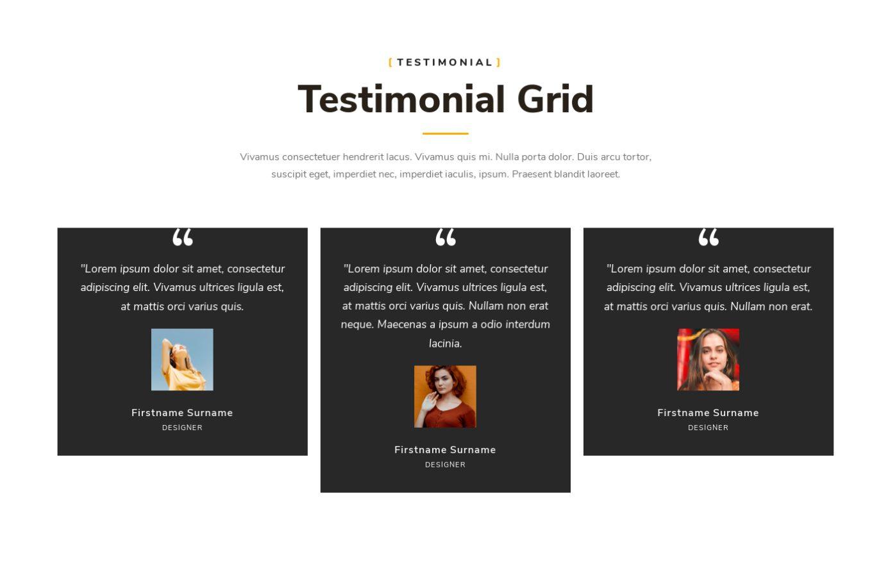 Testimonial Grid 9